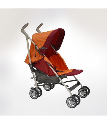Image de poussette allegro plus orange/rose