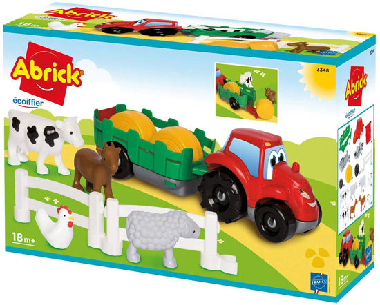 Image de Ecoiffier Coffret voiture + animaux de la ferme Abrick 3348