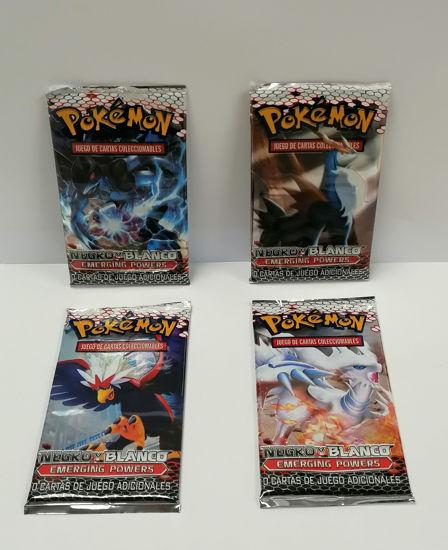 Image de 4 paquets de Pokémon negro blanco