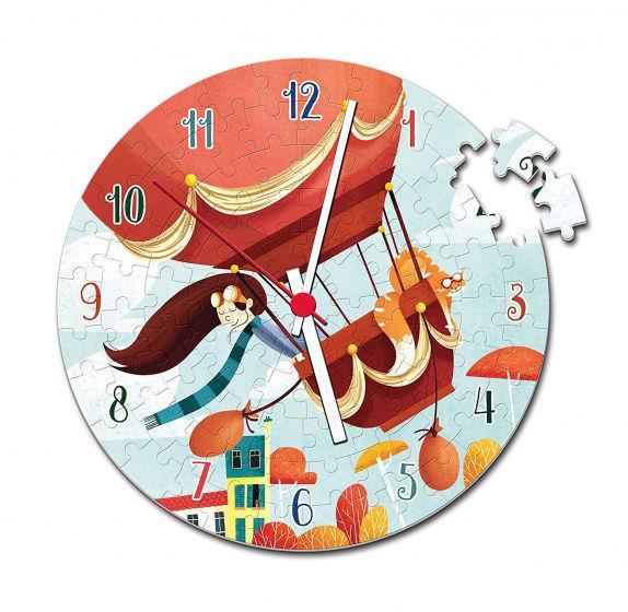 Image de clementoni pendule puzzle horloge Ballon 30 cm junior 96 pièces