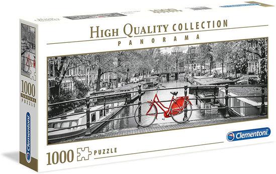 Image de Clementoni   Panoramique Puzzle - Amsterdam Vélo - 1000 Pièces 39440