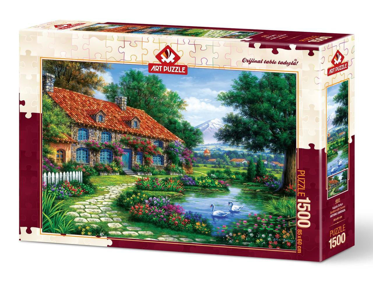 Image de ART PUZZLE 1500 PCS  GARDEN WITH SWANS 4551