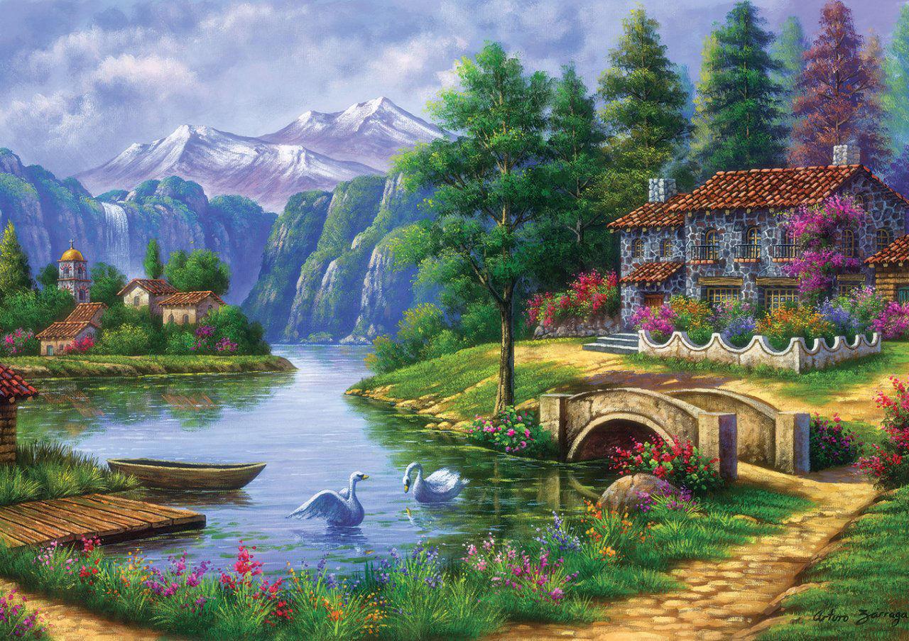 Image de ART PUZZLE 1500 PCS VILLAGE 5371