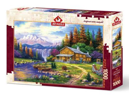 Image de ART PUZZLE 1000 PCS  SUNSET ON THE MOUNTAINS 4230
