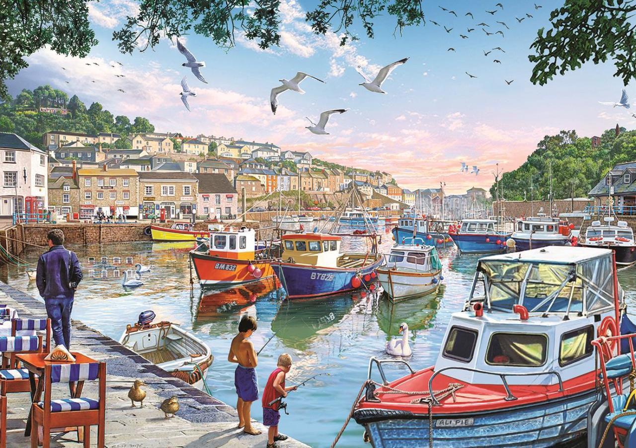 Image de Art Puzzle The Little Fishermen at the Harbour 1000 pièces 4231