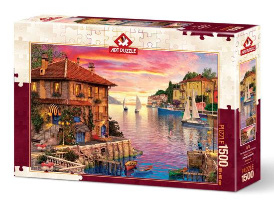 Image de Art Puzzle Méditerranéen Port Puzzle 1500 pièces 5374