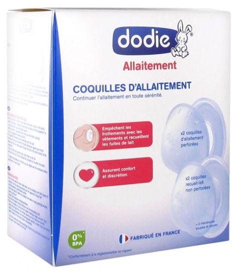 Image de Dodie -Coquilles d'allaitement- 2 paires de coquilles (Protège-mamelons et Recueille-lait)