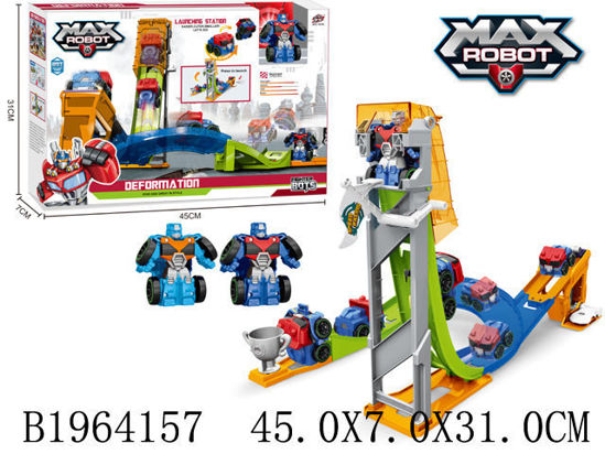 Image de TRANSFORMABLE ROBOT&TRACK SET