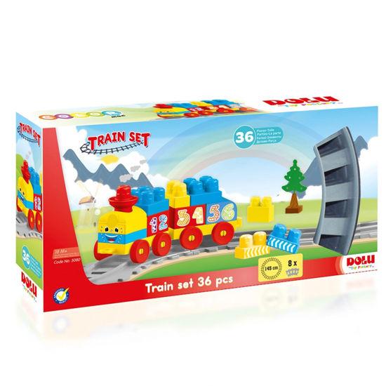 Image de Dolu Coffret lego avec train 36 pièces  5080