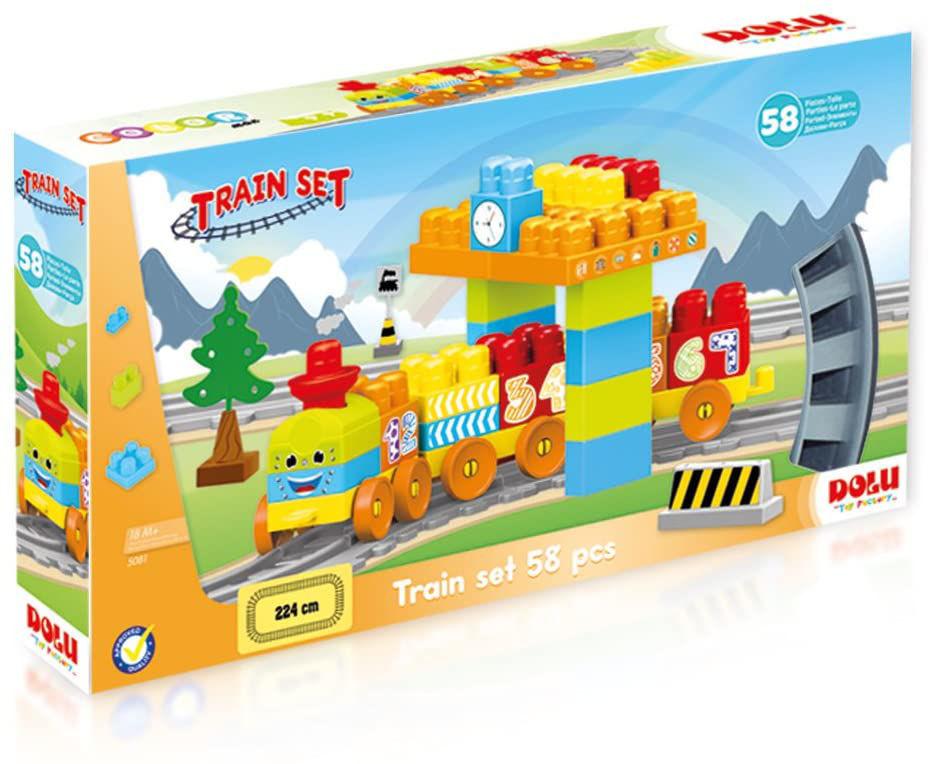 Image de COFFRET LEGO AVEC TRAIN 58PCS
