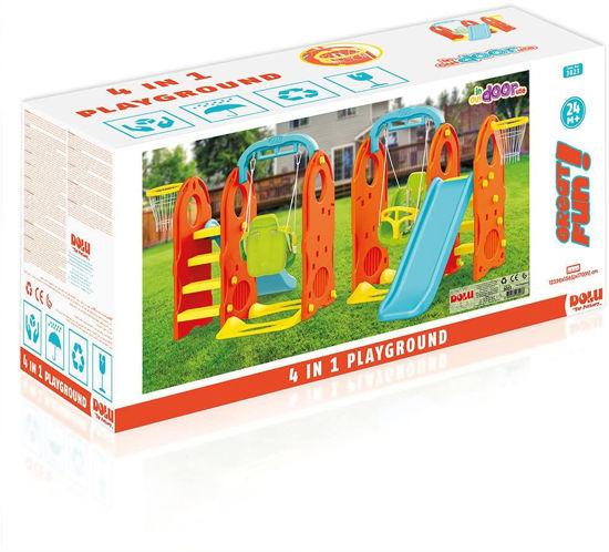 Image de Dolu 4 in 1 Jardin Enfants Aire de Jeux Extérieur Swing Et Toboggan