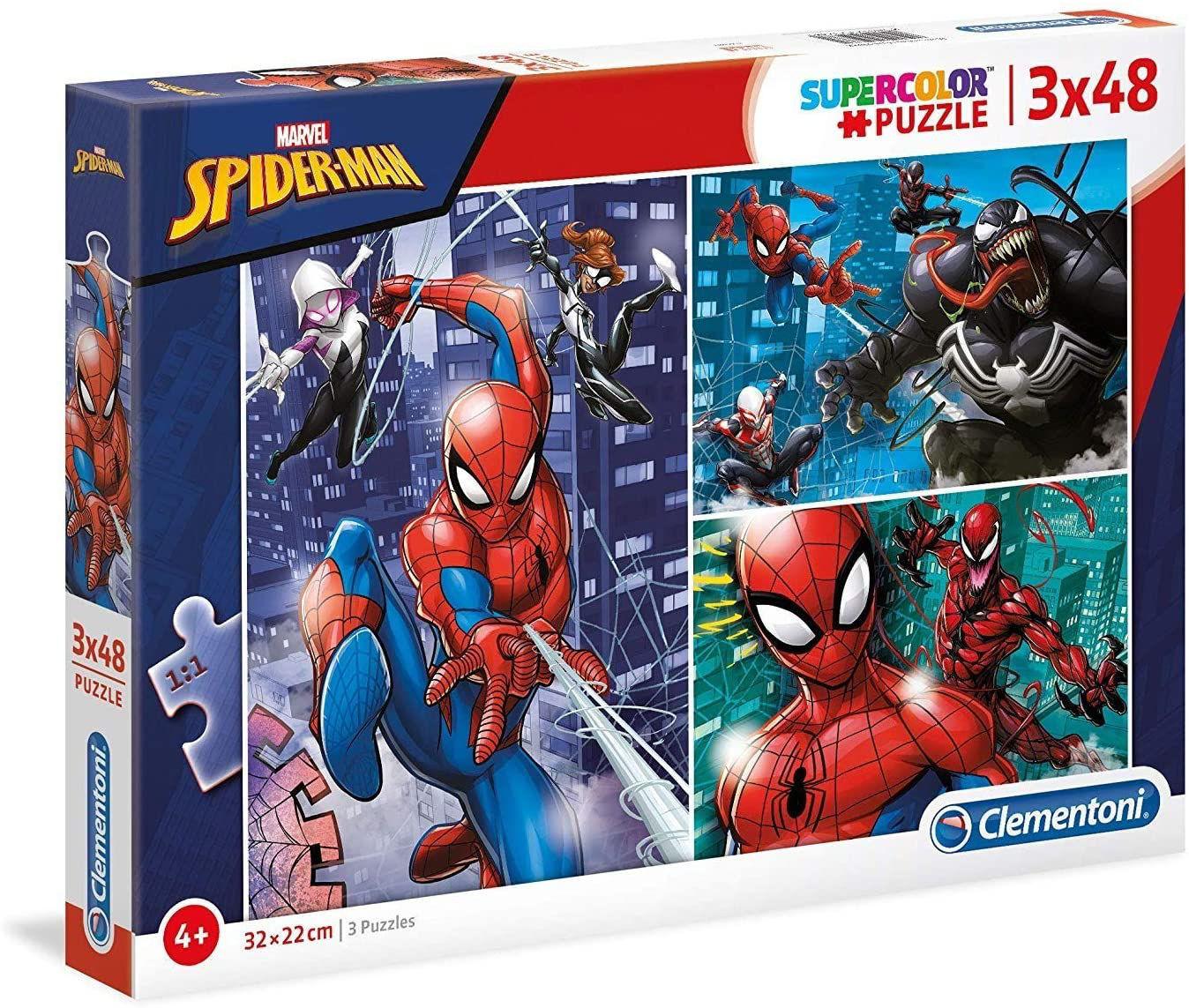 Image de Clementoni- Marvel Spider-Man-3 x 48 pièces 25238