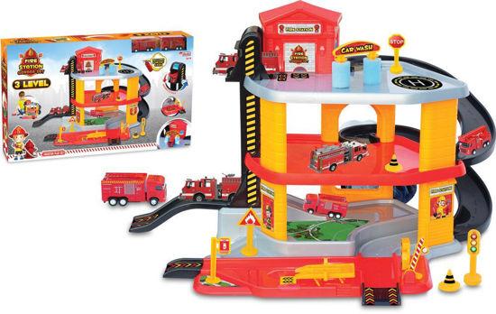 Image de Dede 3 Levels Fire Station Toy Garage Kit