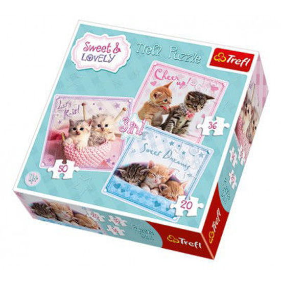 Image de PUZZLE 3EN1 SWEET AND LOVELY 34809