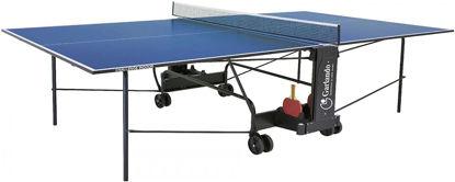 Image de TABLE PING PONG TRAINING INDOOR PLANCHE BLUE GARLANDO + ROUE