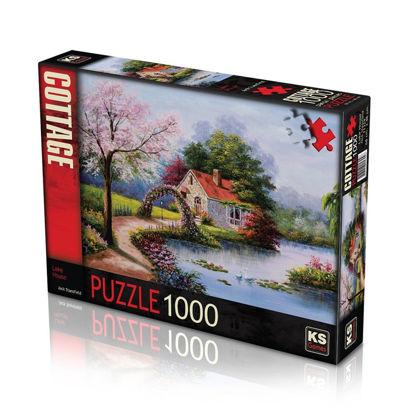Image de PUZZLE 1000PCS LAKE HOUSE