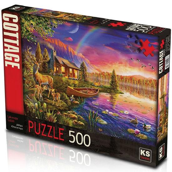 Image de PUZZLE 500 LAKESIDE CABIN