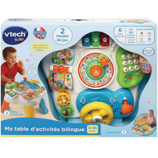 Image de Ma table d'activites bilingue (multicolore)