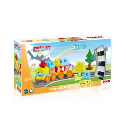 Image de COFFRET LEGO AVEC TRAIN 36PCS