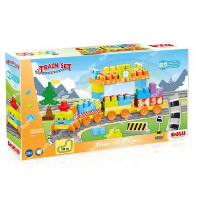 Image de COFFRET LEGO AVEC TRAIN 89PCS