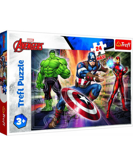 Image de PUZZLE 24 MAXI MARVEL IN WORLD OF AVENGERS 14321