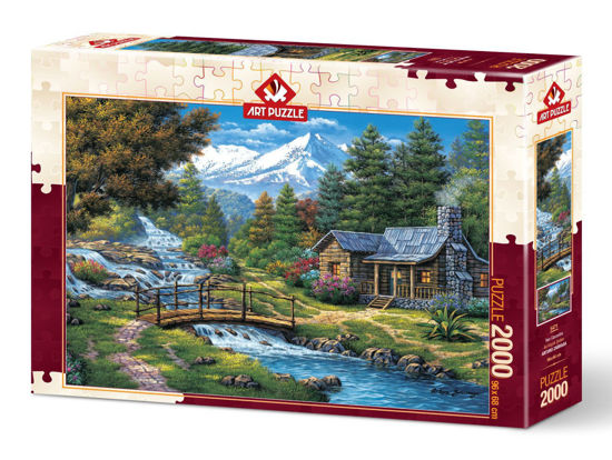 Image de Art PuzzleTwo Small Waterfalls -  Puzzle 2000 pièces