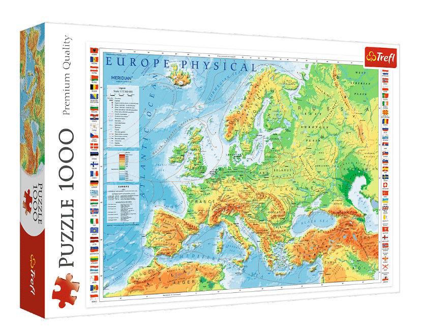 Image de PUZZLES 1000 PHYSICAL MAP 10605